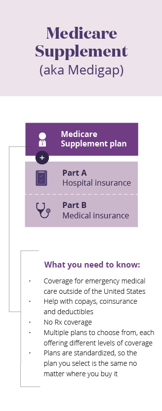 Medicare supplement mobile infographic